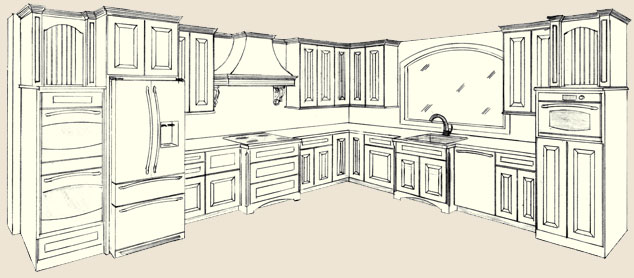 Beautiful 634x278 Smart Design Kitchen Cabinet Drawing Drawing What You On Home