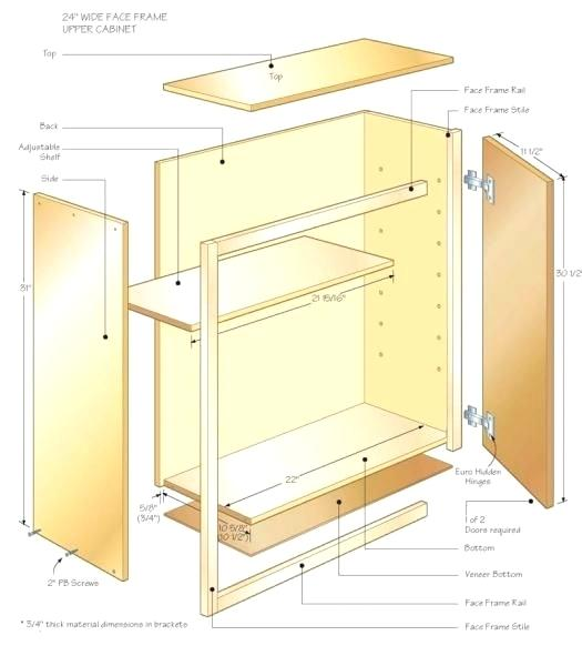 525x591 Charming Cabinet Drawings Free Ideas Ana White Gorgeous Design