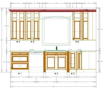 400x338 Kitchen Cabinet Design Drawing Layout Planner Nice Hardware