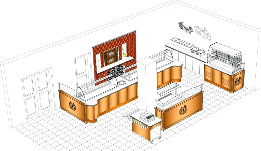 838x484 Kitchen Layout Drawing Breathtaking Design Kitchen Layout For Also