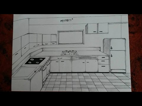 480x360 How To Draw A Kitchen (One Point Perspective)