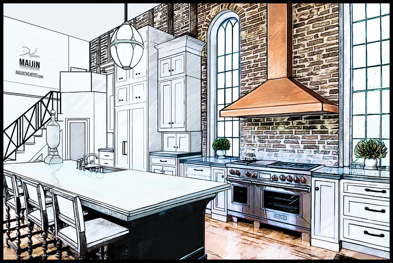 1250x836 Interior Kitchen Concept Design Rendering