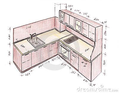 400x313 Kitchen Design Drawing