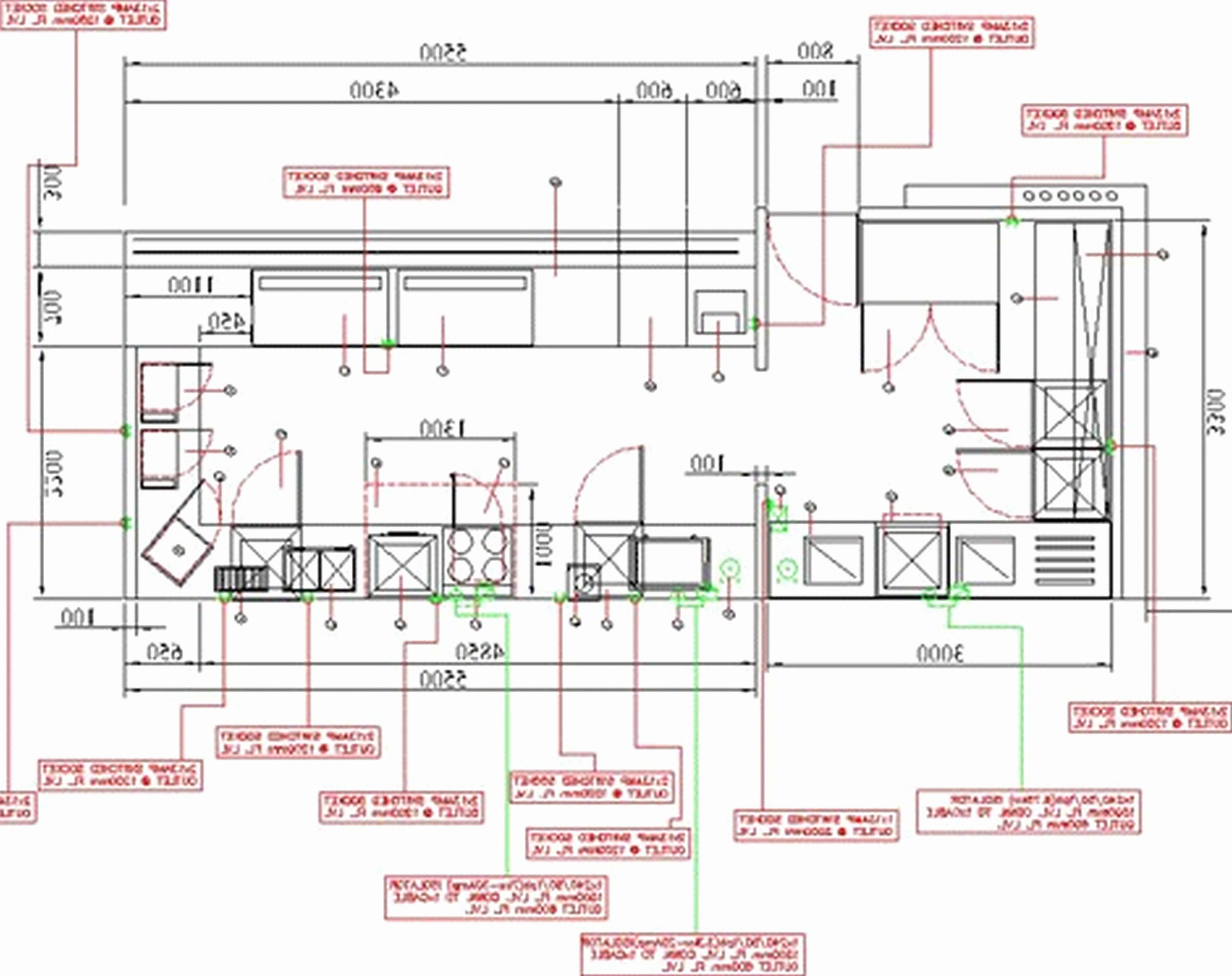 4250x3366 Kitchen Redesign Layout Drawing Planner