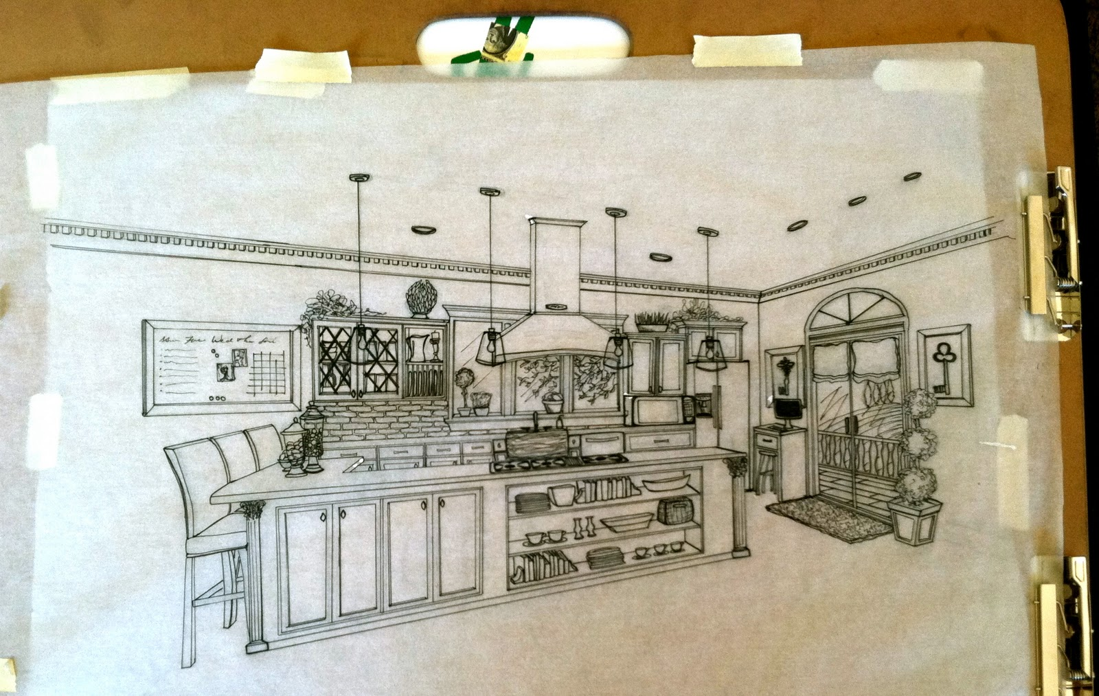 1600x1013 Brandalyn Designs Perspective Drawing Kitchen