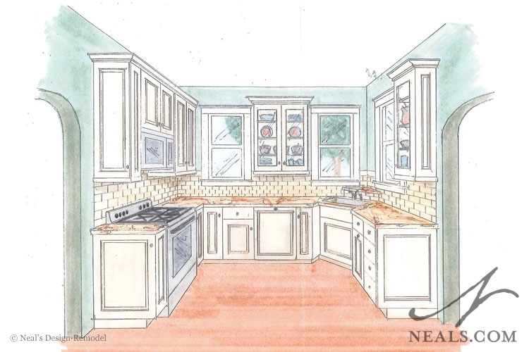 750x500 Kitchen Drawing Perspective Kitchen Perspective Drawing One Point