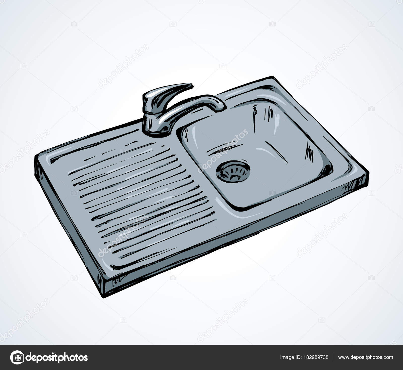 Kitchen Sink Drawing at GetDrawings.com | Free for personal use ...