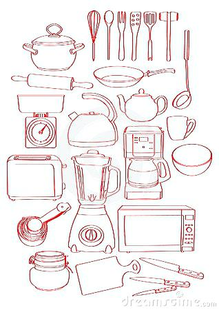 kitchen tools drawing at getdrawings com free for personal use