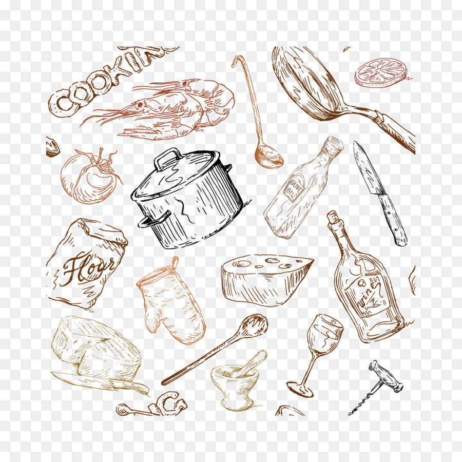 Kitchen Utensils Drawing at GetDrawings.com | Free for personal use ...