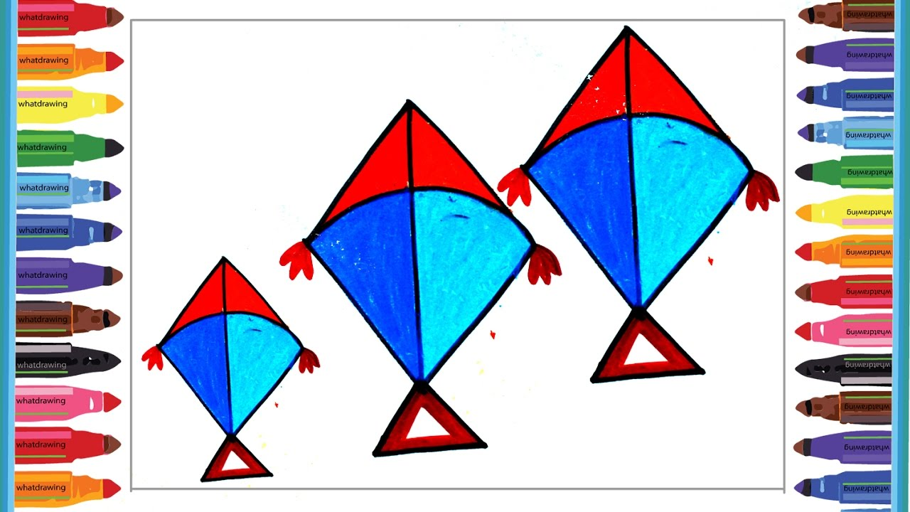 Kite Drawing At Free For Personal Use Chinese Template How To Make A Diagram 1280x720 Amazing Kids