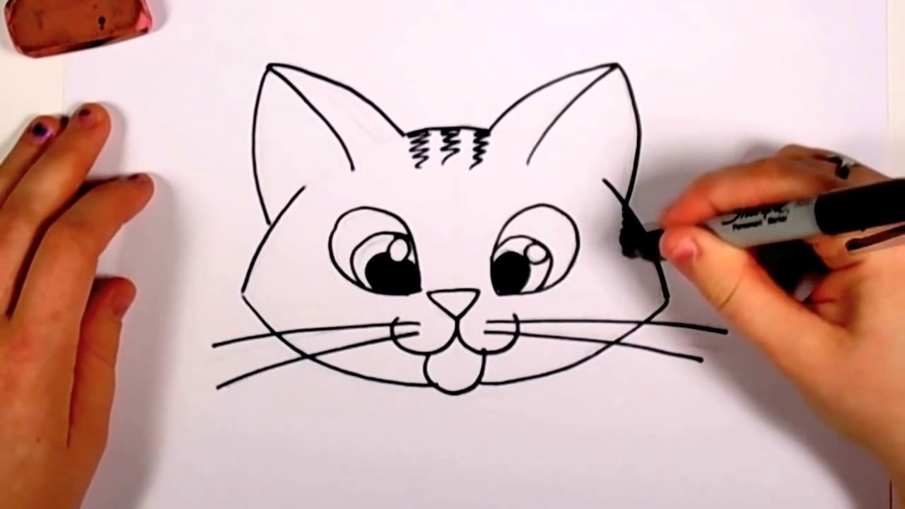 Full Color Drawing Pics 8 1 1280x720 Cute Cat