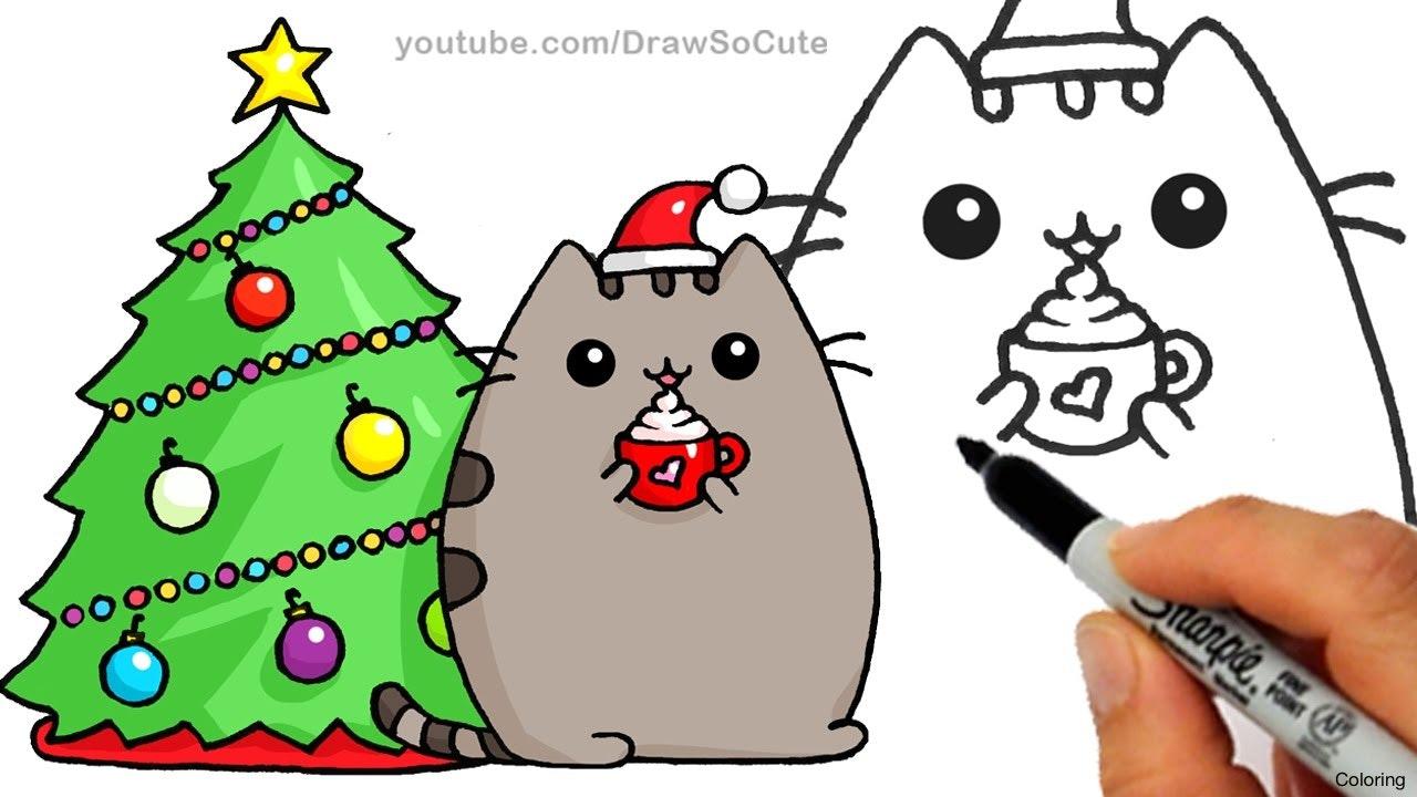 1280x720 Howtodraw Cute Chibi Kawaii Cartoon Kitty Cat Playing With Yarn