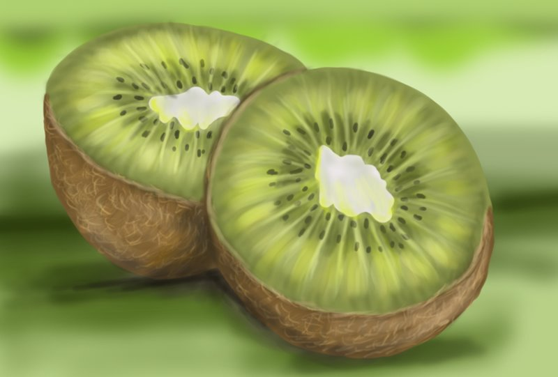 800x541 Learn How To Draw Kiwi Fruit (Fruits) Step By Step Drawing Tutorials