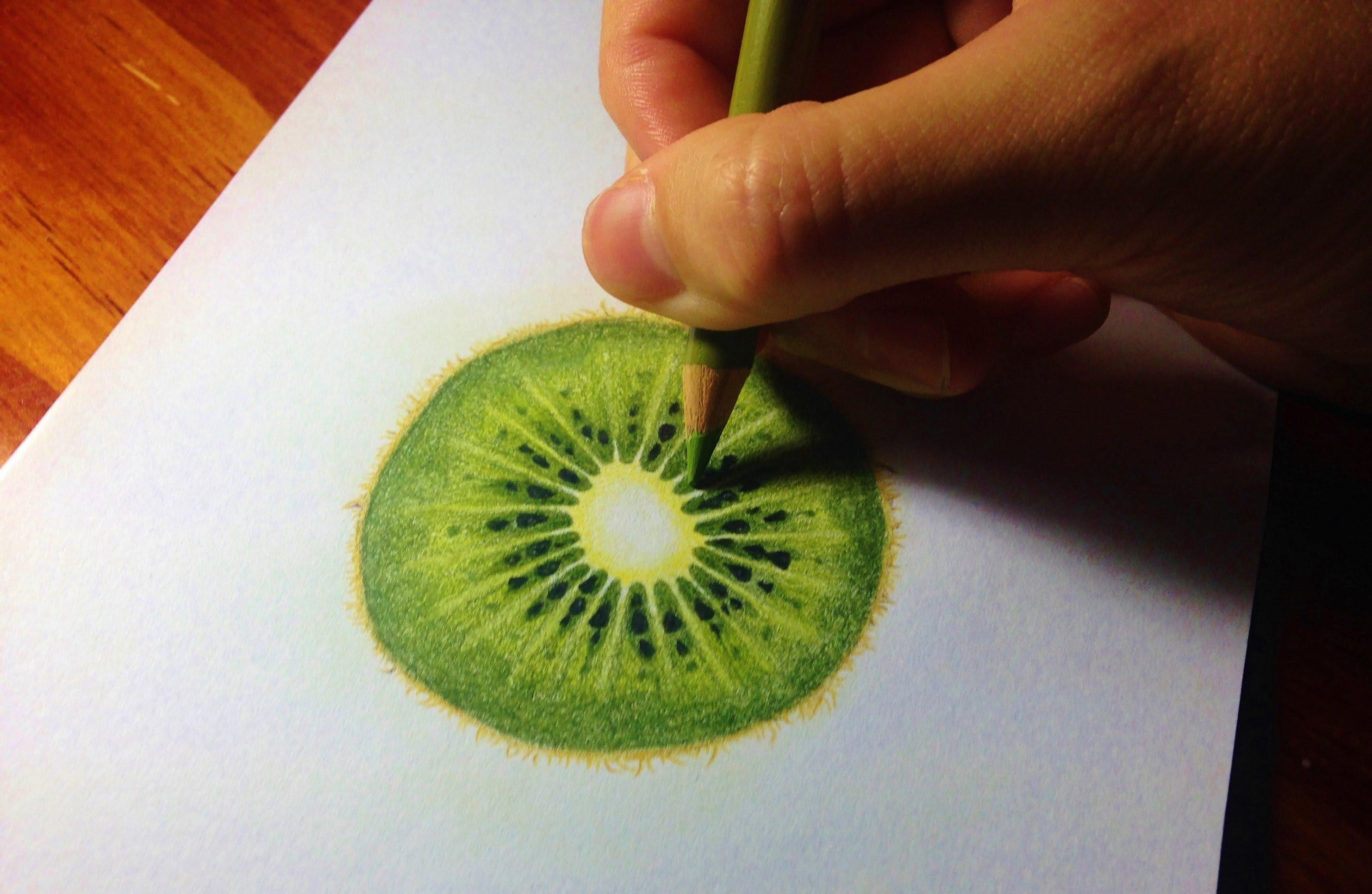 Kiwi Fruit Drawing at GetDrawings.com | Free for personal use Kiwi ...