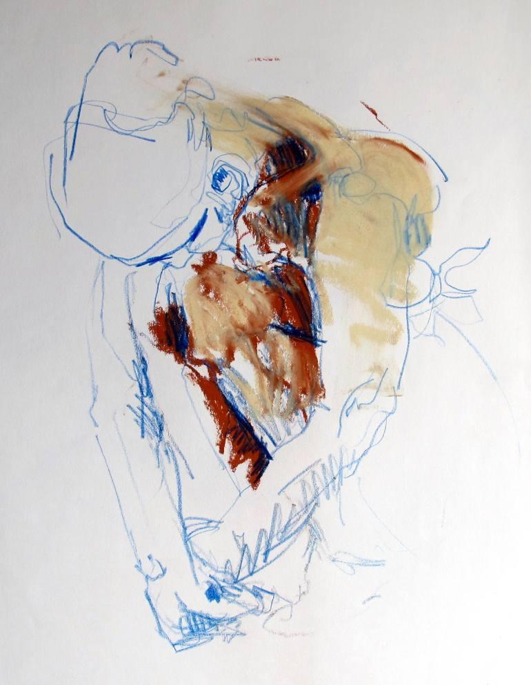 770x993 Saatchi Art Woman Kneeling Drawing By Mimi Van Bindsbergen