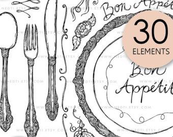 340x270 Fork Knife Spoon Art Etsy