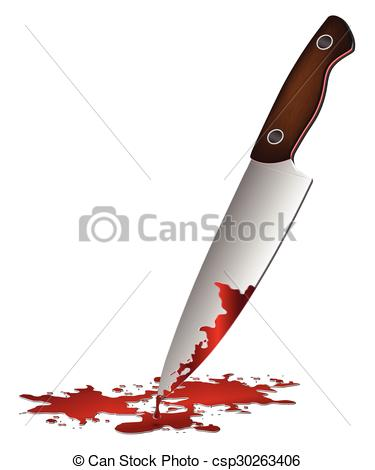 375x470 Realistic Bloody Knife. Knife With Blood Vector Vector Clipart