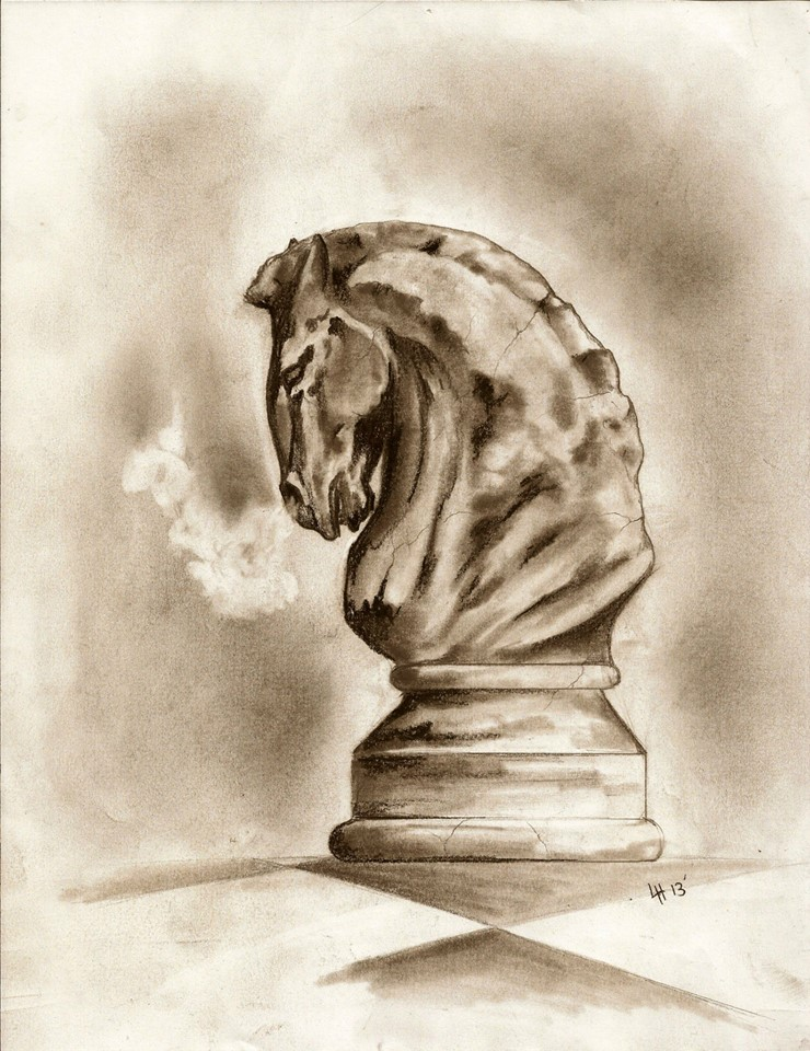 Knight Chess Piece Drawing At Getdrawings Free For Personal