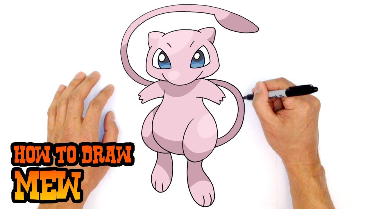 1280x720 How To Draw Mew Pokemon