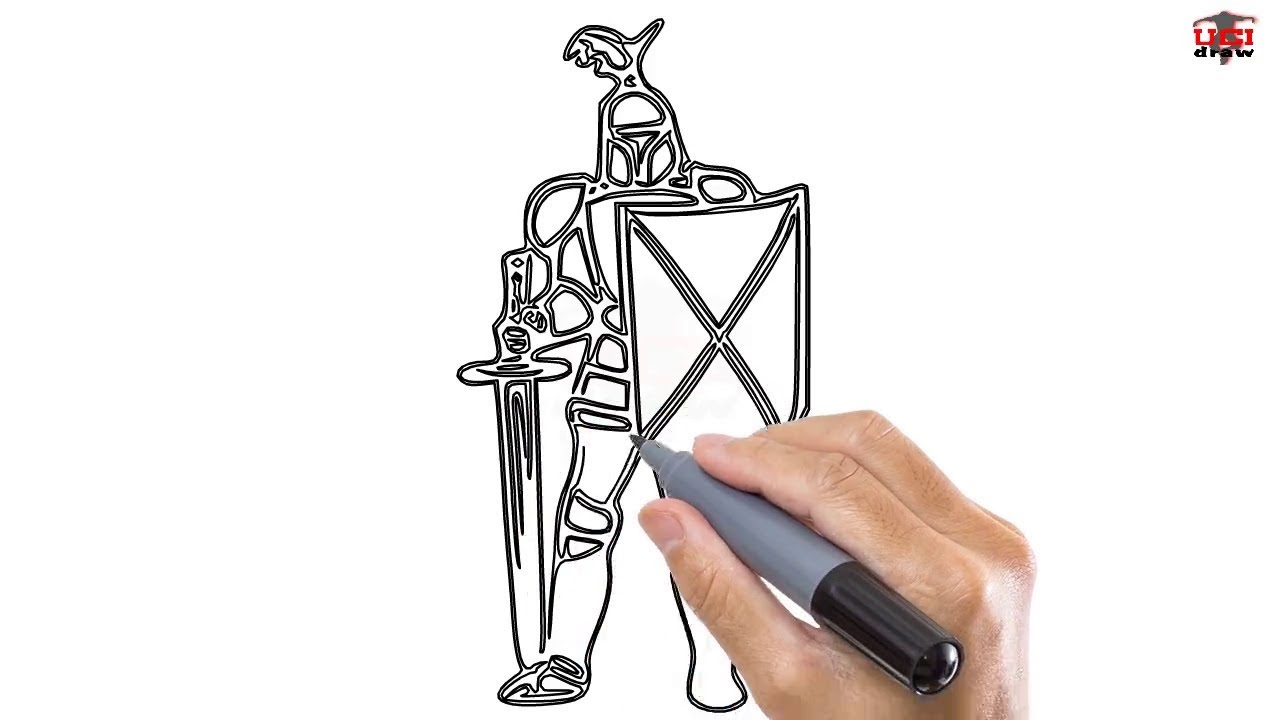 1280x720 How To Draw A Knight Easy Step By Step Drawing Tutorials For Kids