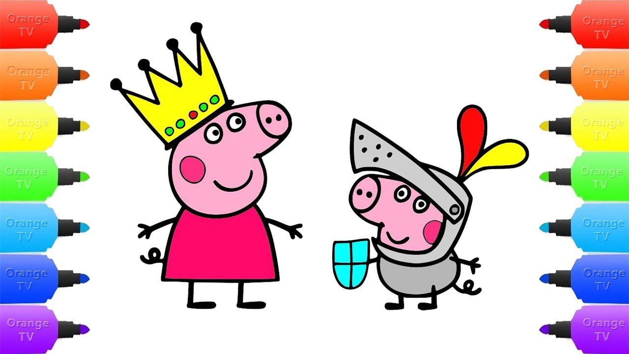 1280x720 Peppa Pig Princess George Knight