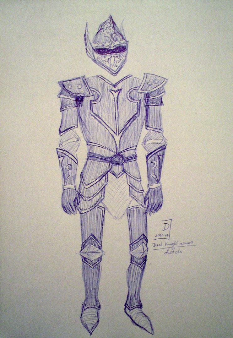 742x1076 Dark Knight Armor Sketch By Blacksahara