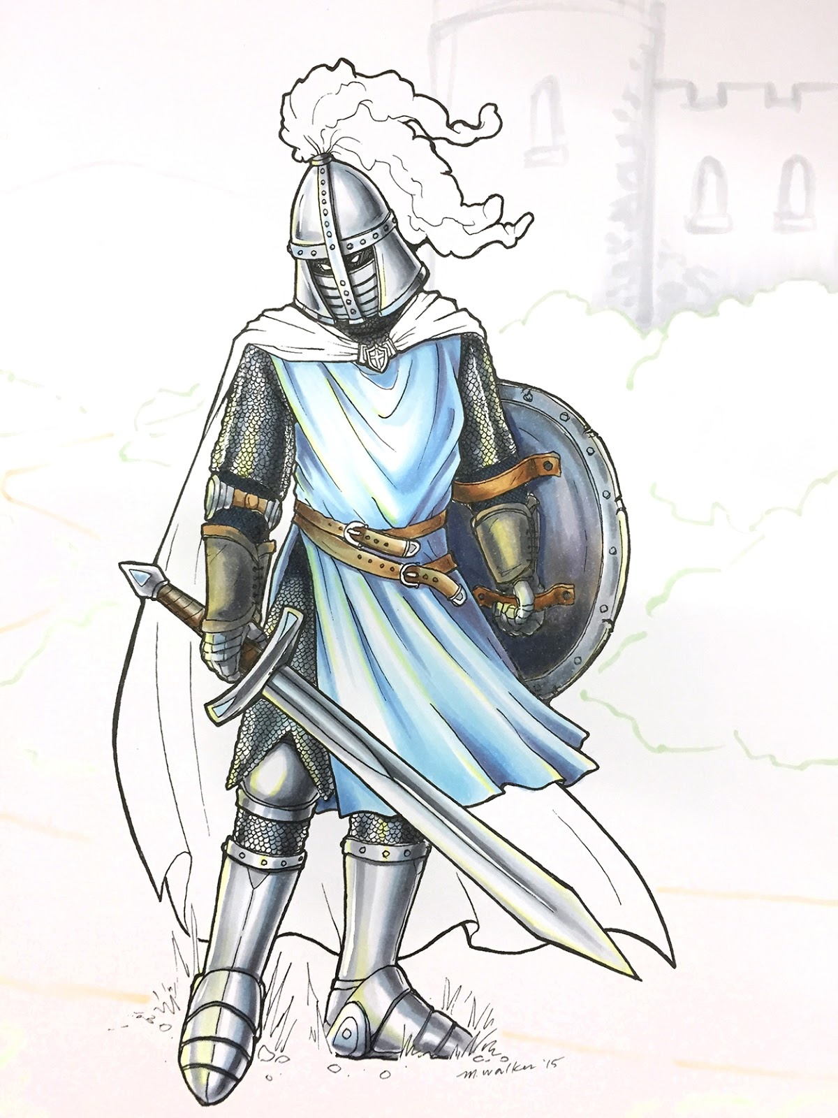 1200x1600 I Like Markers Coloring A Knight In Armor
