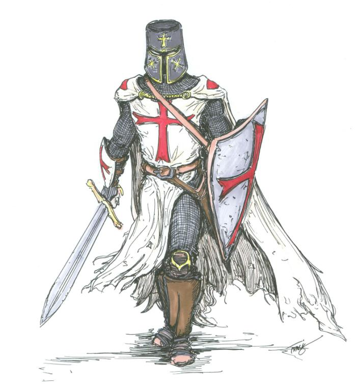697x767 Cavaliere Medievale
