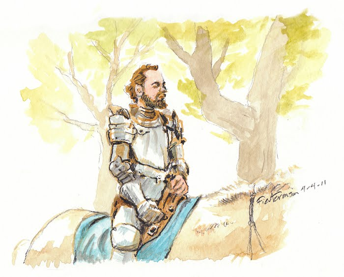 700x563 William Fiestermane Painting Or Drawing Per Day Knight