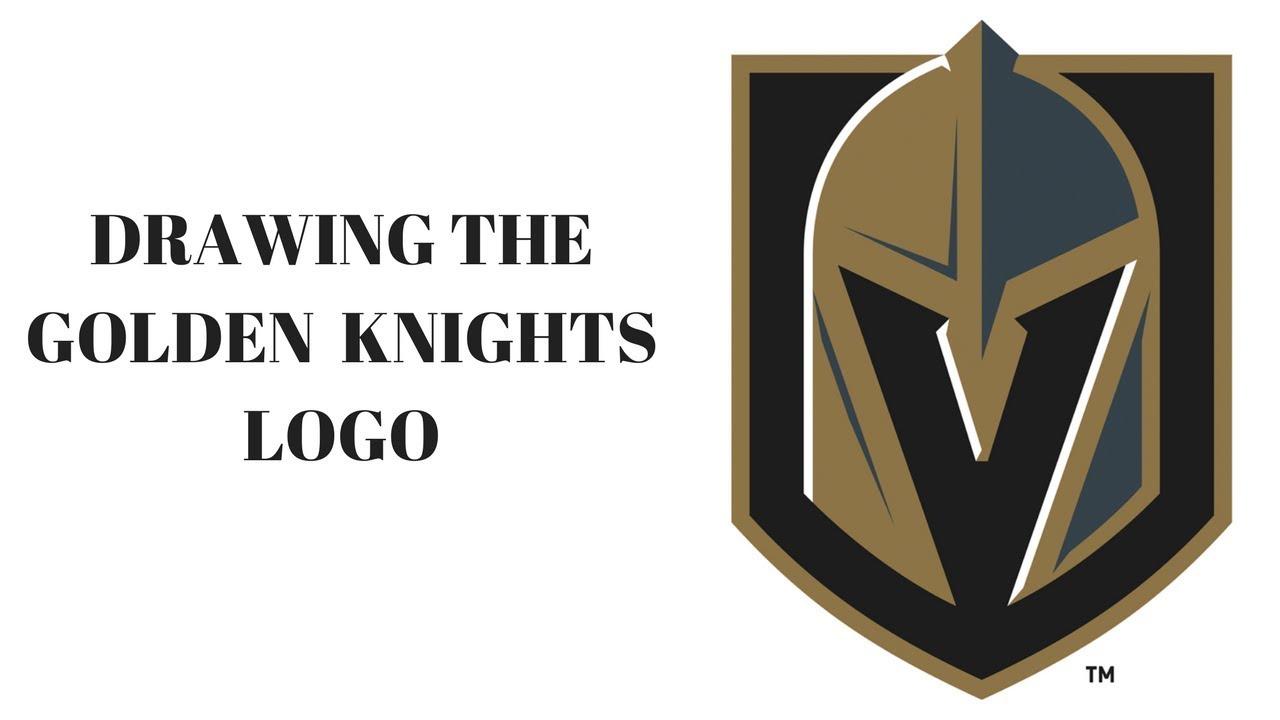 1280x720 Drawing The Vegas Golden Knights Logo