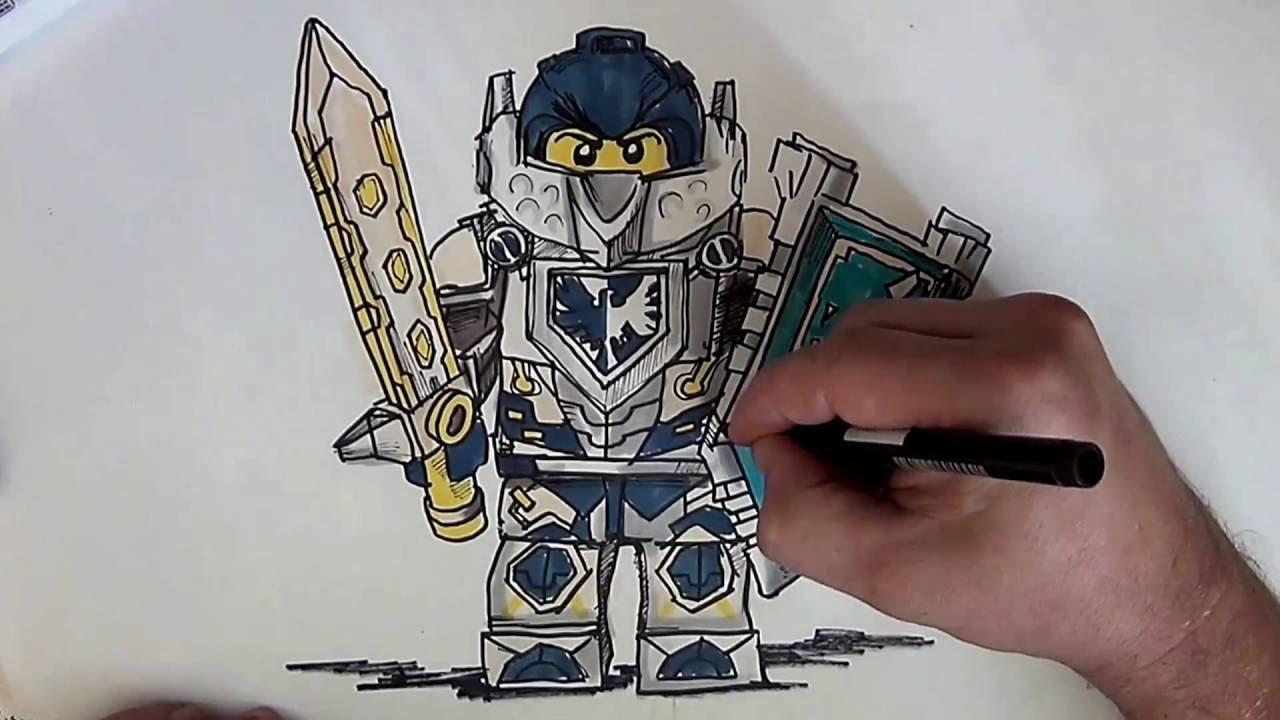1280x720 How To Draw Clay Morington From Nexo Knights (Lego)