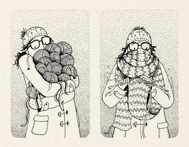 640x500 Image Result For Drawings Of Knitting Fiber