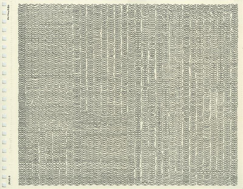 800x623 Untitled (Knit Stitches Drawing), 2011 Anna Maltz