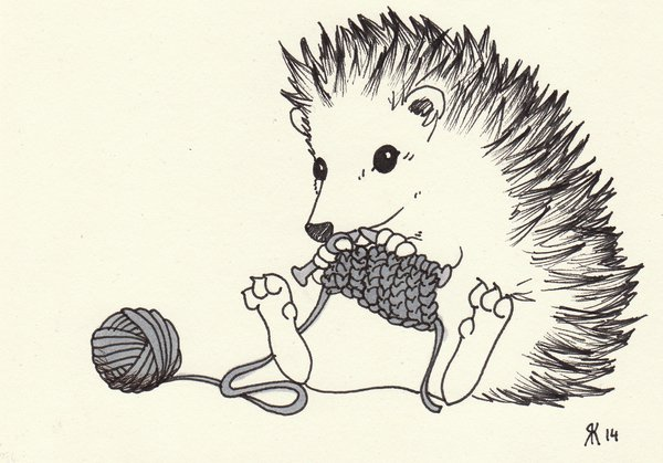 600x419 Knitting Hedgehog By Pauli Johannes