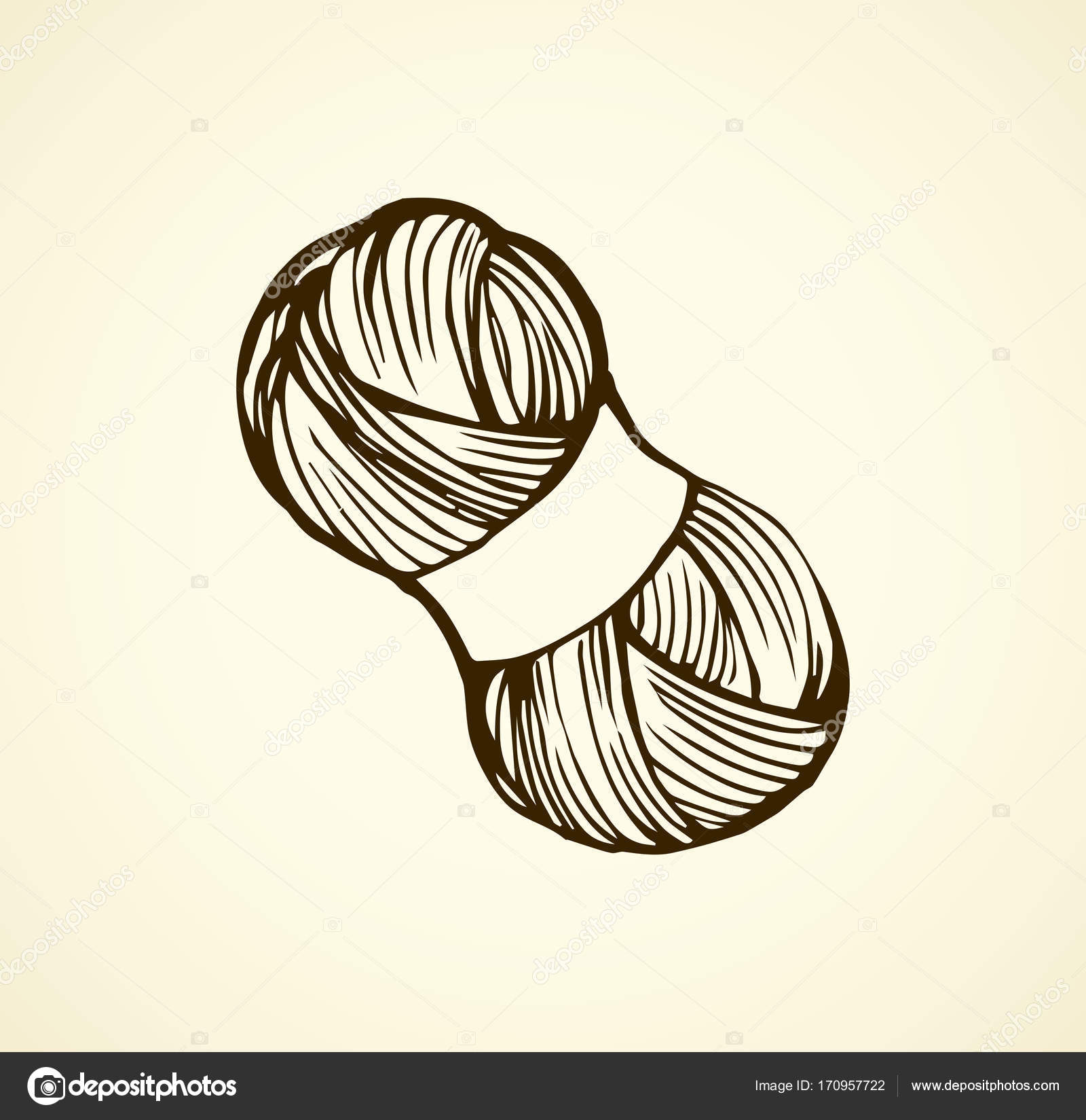 1600x1649 Knitting. Vector Drawing Stock Vector Marinka
