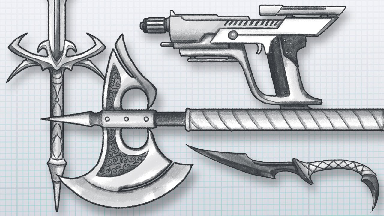 1280x720 How To Design Awesome Weapons! Draw Your Own Guns, Swords, Axes