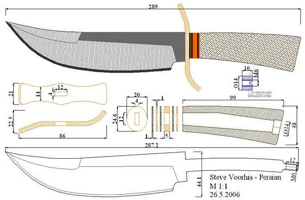 610x401 More Than 400 Drawings Of Knives! (In. Pdf And. Jpg)