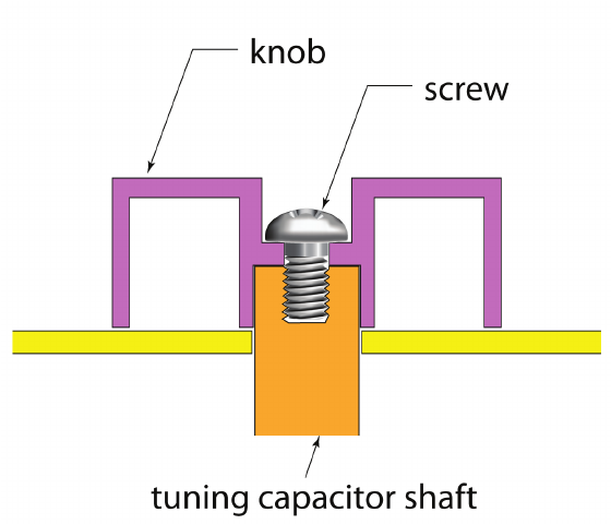 560x480 Section Drawing Of Plastic Knob For Tuning Capacitor