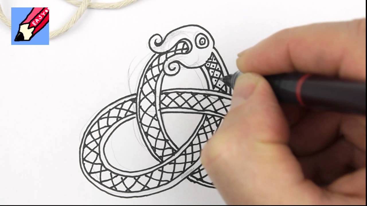 1280x720 How To Draw Celtic Snake Knots