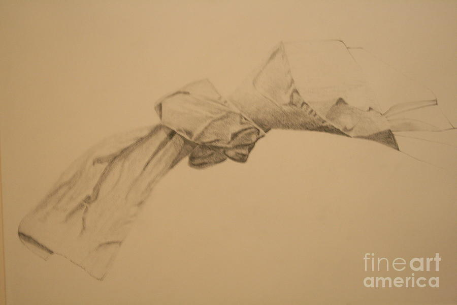 900x600 Towel Knot Drawing By Michelle Etzel Taylor