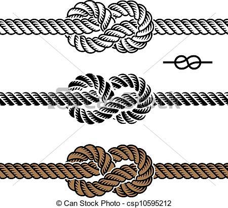 450x410 Vector Black Rope Knot Symbols Vector Clip Art
