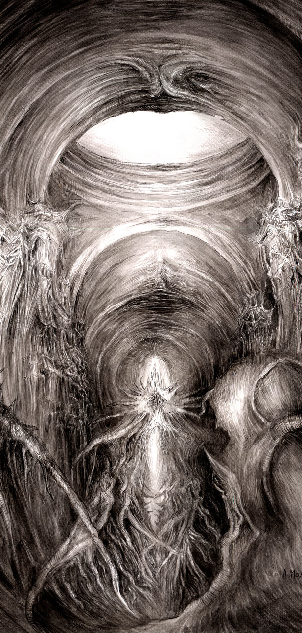 617x1293 Dark Cathedral (Part) Knowledge Drawing Paper By Masiani