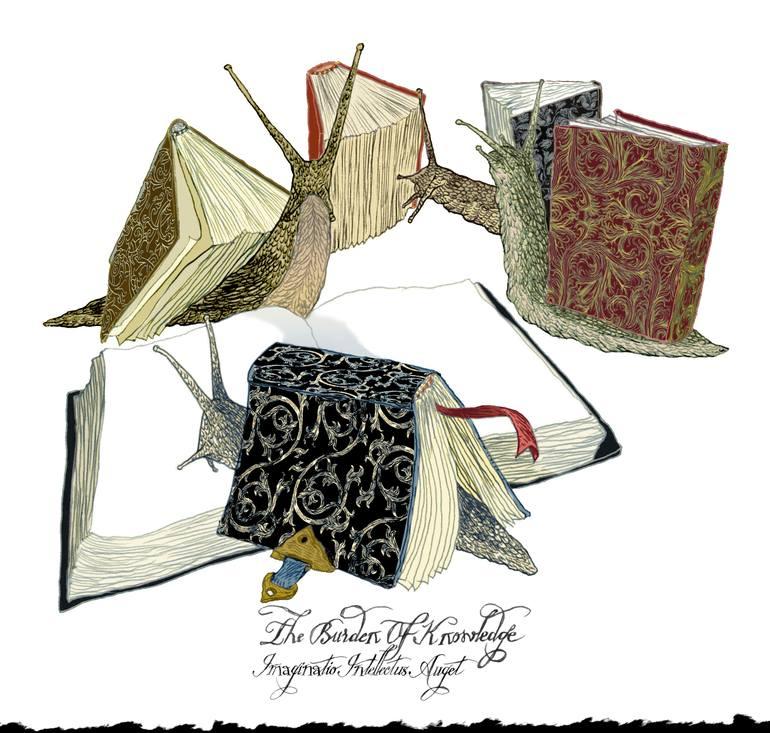 770x733 Saatchi Art The Burden Of Knowledge Drawing By Ilene Winn Lederer