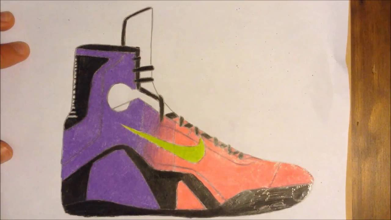 1280x720 Custom Sneaker Drawing Kobe 9 Elite Mambacurial