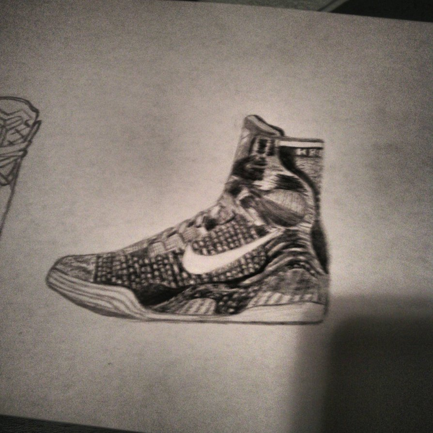 894x894 Drawing Of The Kobe 9 Elite By Bigken20