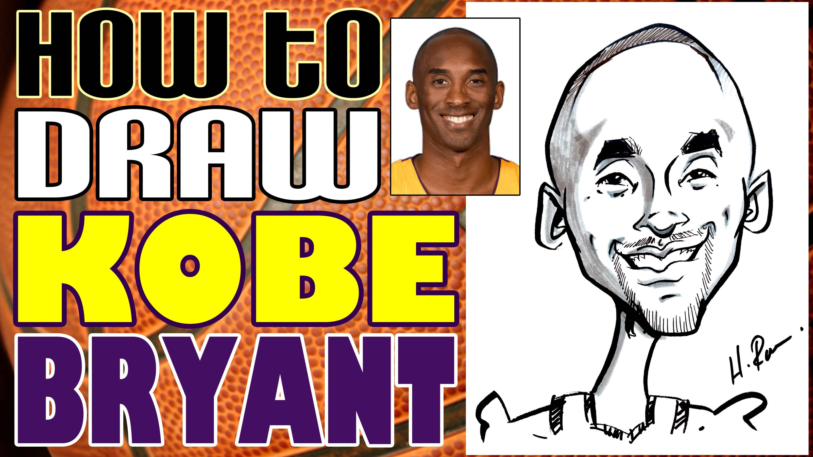 3300x1856 How To Draw A Quick Caricature Kobe Bryant