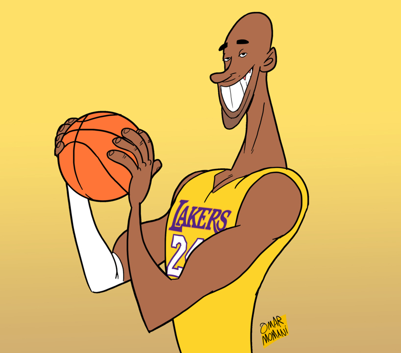 818x721 Omar Momani Cartoons My Cartoon Tribute To Kobe Bryant