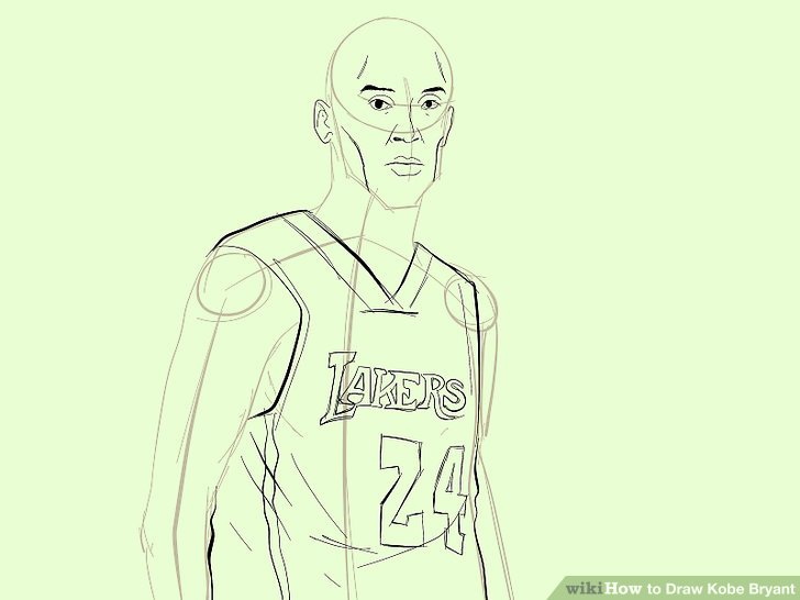 728x546 How To Draw Kobe Bryant (With Pictures)