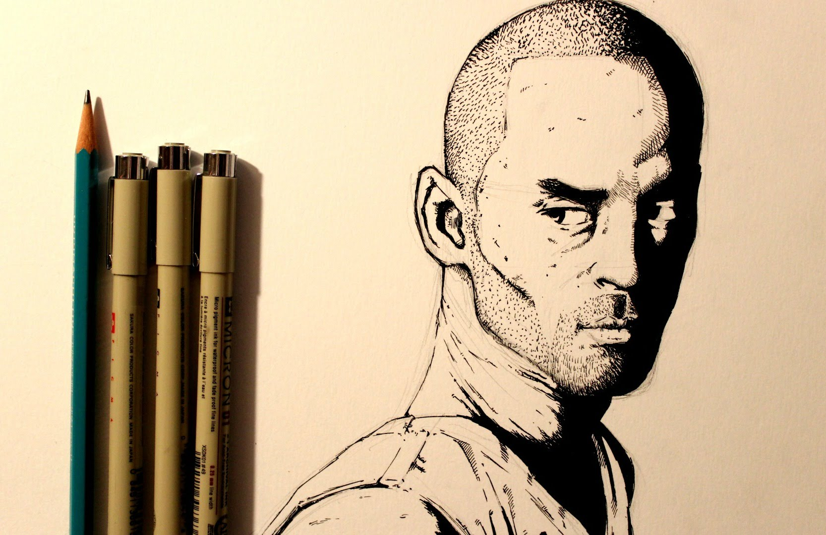 1666x1080 Drawing Kobe Bryant
