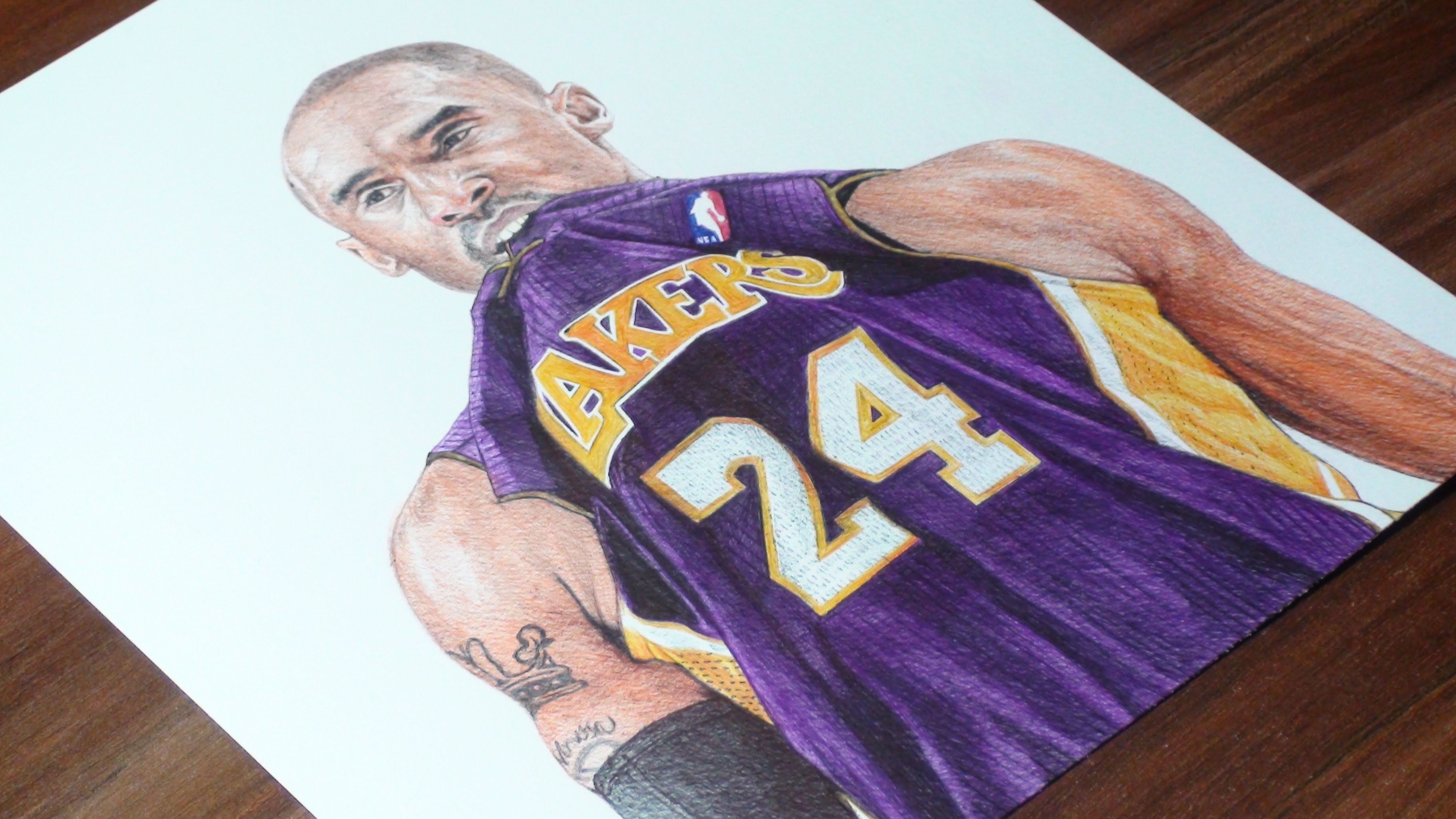 3680x2070 Kobe Bryant Pen Drawing